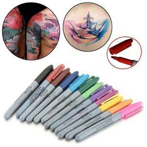 1 Satz 12 Stücke Tattoo Haut Marker Tipps Stift Medical Surgical Scribe Pen
