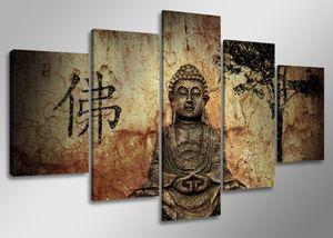 160 x 80 cm Bild auf Leinwand Buddha 5502-SCT deutsche Marke und Lager  -  Die Bilder / das Wandbild / der Kunstdruck ist fertig gerahmt