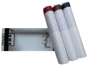 Tobeni 3 edle Herren Stoff Taschentücher in Geschenke Box 100 Baumwolle-Satin, Farbe:Design 1, Grösse:41 cm x 41 cm