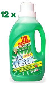 AppWasch® - Universal Vollwaschmittel Gel, 12-er Pack (1 x 336 Waschladungen) 0,08 EUR/ Waschladung
