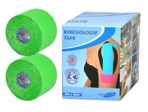 2x Rollen je 5M Kinesiologie Tape Tapes Klebeband Sporttape Sport Tapeverband