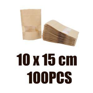 100x Kraftpapiertüten Standbeutel Lebensmittel  Verpackung Beutel