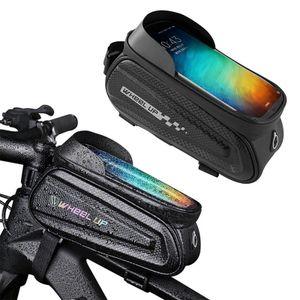7'' PVC Fahrrad Tasche Rahmentasche Handy Oberrohrtasche Lenkertasche Handy Halterung