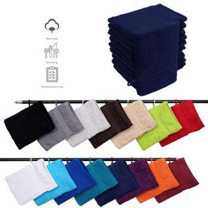 Müskaan - 10er Set Frottee Waschhandschuhe Elegance 16x21 cm 100% Baumwolle 500 g/m² Waschhandschuh, Farbe:marine