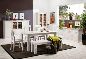 Steens - Sideboard, 3 Schubladen und 3 Türen,  Material Kiefer- Verarbeitung: Weiss lasiert - H x B x T   78,1 x 145,2 x 46,5  cm