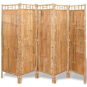 vidaXL Raumteiler Bambus 5-tlg. 200x160 cm