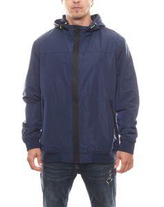 Rhode Island Übergangs-Jacke leichte Herren Freizeit-Jacke im Blouson-Stil Marine, Größe:XXL