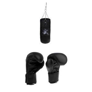 Kickboxing Bag Boxhandschuhe Punch Tool Trainingsgeräte Für Frauen / Kinder 50-150 cm Schwarz 70