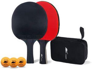 Tischtennis-Set, Tischtennisschlaeger Set, Pingpong Set Pingpong Schläger Tischtennisschlaeger Hülle für Anfänger und Profis