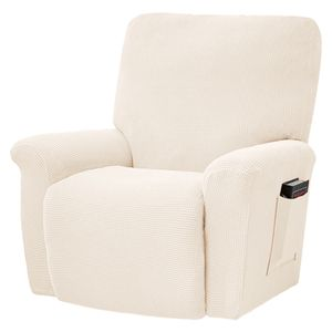 Elastisch Relaxsessel Sofahusse Liegesessel Sofabezug Sesselbezug Stretchhusse,Weiß