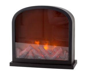 LED Kamin gewölbt mit Flammeneffekt Kaminfeuer 30 x 28 x 13 cm Kamin
