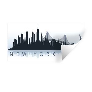 Wandaufkleber - New York - Skyline - NYC - 80x40 cm - Repositionierbar