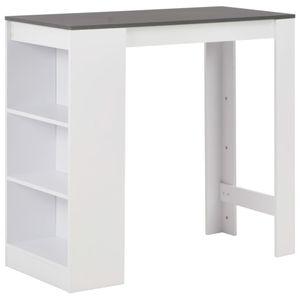 vidaXL Bartisch mit Regal Weiß 110 x 50 x 103 cm