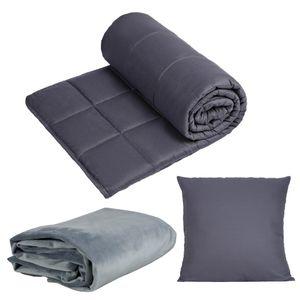 WIF7 Gewichtsdecke 150x200 cm schwere Winter Bettdecke aus Baumwolle,Weighted Blanket beschwerte Decke Anti Stress 9kg