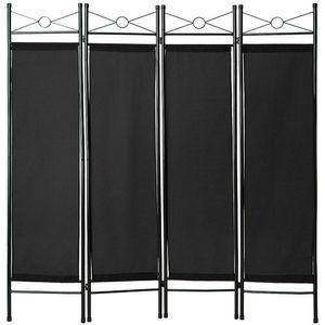 tectake Raumteiler - schwarz