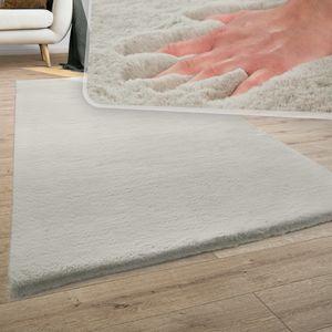 Teppich Wohnzimmer Kunstfell Plüsch Hochflor Shaggy Super Soft Waschbar In Beige, Grösse:200x290 cm