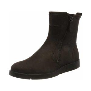 ECCO Damen Stiefeletten Ankle Boots Lederkombination braun 38