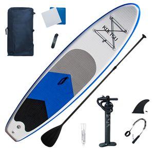 SOGOODS(R) 320CM Surfbretter Stand Up Paddle Board Set Aufblasbares Sup Board - 320 * 76 * 15 cm Kajak Sitz bis 140kg Paddelboard Wellenreiter aufblasbar SUP Board Surfboard Minzgrün