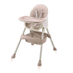 Baby Vivo Design 2in1 Kinderhochstuhl - Oscar in Pink