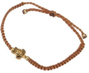 Ethno Schildkröten Perlenarmband, Makramee Armband - Braun, Armreifen & Armbänder Modeschmuck