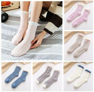 6 Paar Damen Mädchen Socken Kuschelsocken Warme Wintersocken Dicke Bettsocken