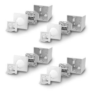 4x ARLI Cat6a Netzwerkdose 2 Port ( Auf + Unterputz )