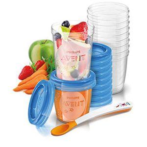 AVENT Aufbewahrungssystem für Babynahrung, 10 x 240 ml