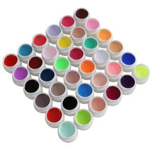 36 Farben UV Gel mit 1 Pinsel, Gelnägel Farben, Nail Art UV Gel Farbgel, Gel Nagellack Nail Gel Polish für Nagel-Design