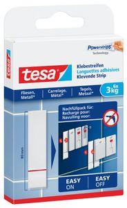 tesa Powerstrips Klebestreifen für Fliesen und Metall bis 3 kg (6 Stück)