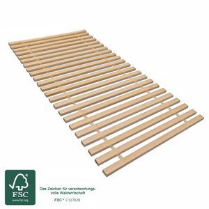 MaDeRa Rollrost XXL mit 23 extra stabilen Leisten aus massiven Buchenholz belastbar bis ca. 280 kg Größe: 90x200
