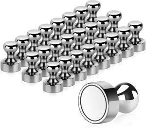 24 Stück Neodym Magnete, Extrem Stark Metall Magneten 12 x 16mm - Edelstahl Kegelmagnete Pinnwand Magnete für Magnettafel, Whiteboard, Kühlschrank usw. mit Aufbewahrungs Box