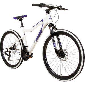 Galano GX-26 26 Zoll Mountainbike Hardtail MTB Fahrräder zum mountainbiken Jugendfahrrad Fahrrad 21 Gang, Farbe:weiß/lila, Rahmengröße:44 cm