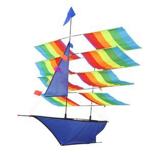 Schiff 3D Segelboot Drachen Flugdrachen Kinderdrachen Drachen Sport Kite+30M Schnur