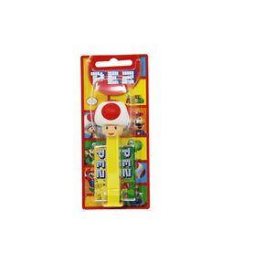 PEZ Super Mario Pilz Spender mit 2 Päckchen süßen Bonbons 17g