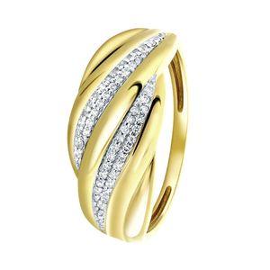 Ring aus 585 Gelbgold mit Diamant -  50
