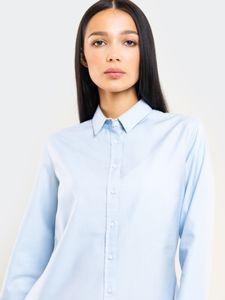 Big Star Damen Bluse Hemd Freizeit Business PERLANA 145747401 BLUE-401 XXL