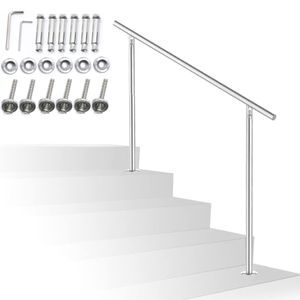 Treppengeländer Edelstahl Geländer 150cm ohne Querstäbe Handlauf Balkongeländer für Innen Außen