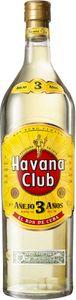 Havana Club Añejo 3 Años Weißer Rum, White Rum, 3 Jahre, Schnaps, Spirituose, Alkohol, Flasche, 40 %, 3 L, 70705000