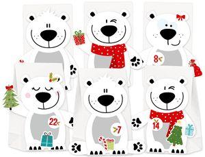 Adventskalender Eisbär zum selbst Befüllen