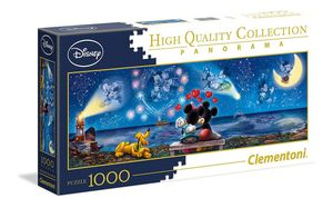 Clementoni 39449 Mickey und Minnie 1000 Teile Panorama Puzzle