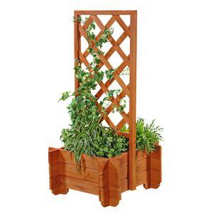 Rosenbogen Pflanzkübel Pergola Spalier Braun Rankhilfe Blumenkübel Torbogen Holz Rankgitter Rankgestell Gartenbogen Gartenn Kletterhilfe