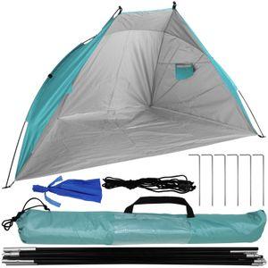 Strandmuschel UV-Schutzfaktor 50+ inkl. Tragetasche hellblau Sonnenzelt Strandzelt Sonnenschutzzelt Sichtschutz
