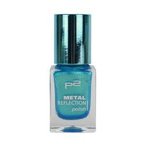 P2 Nägel Nagellack Nagellack Metal Reflection Polish 833907, Farbe: 020 blue punk, 10 ml