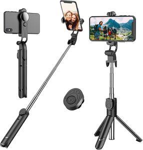 Ausziehbares  Selfie Stick Stativ mit abnehmbarer kabelloser Fernbedienung und Stativ-Selfie-Stativ für iPhone X / iPhone 8/8 Plus / iPhone 7/7 Plus, Galaxy S9 / S9 Plus / S8 / S8 Plus Mehr