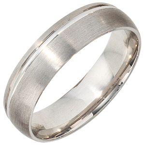Partnerring Ring Silberring 925 Silber rhodiniert teilmattiert Unisex, Ringgröße:Innenumfang 54mm  Ø17.2mm