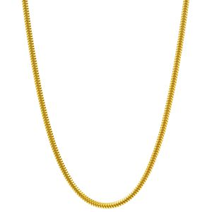 1,2 mm 50 cm 333 - 8 Karat Gelbgold Schlangenkette rund massiv Gold hochwertige Halskette 3,6 g