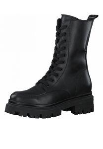 Tamaris Damen Elegante Stiefelette 1-25814-27 Schwarz 003 Black Leather Leder mit TOUCH-IT, Groesse:38 EU