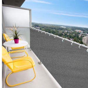 Balkon Sichtschutz 600 x 75cm Windschutz Balkonverkleidung Terrasse Deko