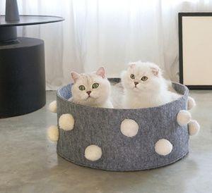 Hundebett mit Wendekissen waschbar Katzenbett Haustierbett Hundekorb Grau