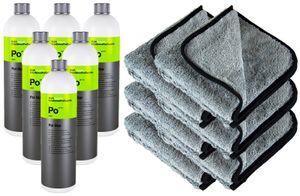 6x KOCH CHEMIE Po Pol Star Textilreiniger Lederreiniger 1 L & P4C Mikrofasertuch